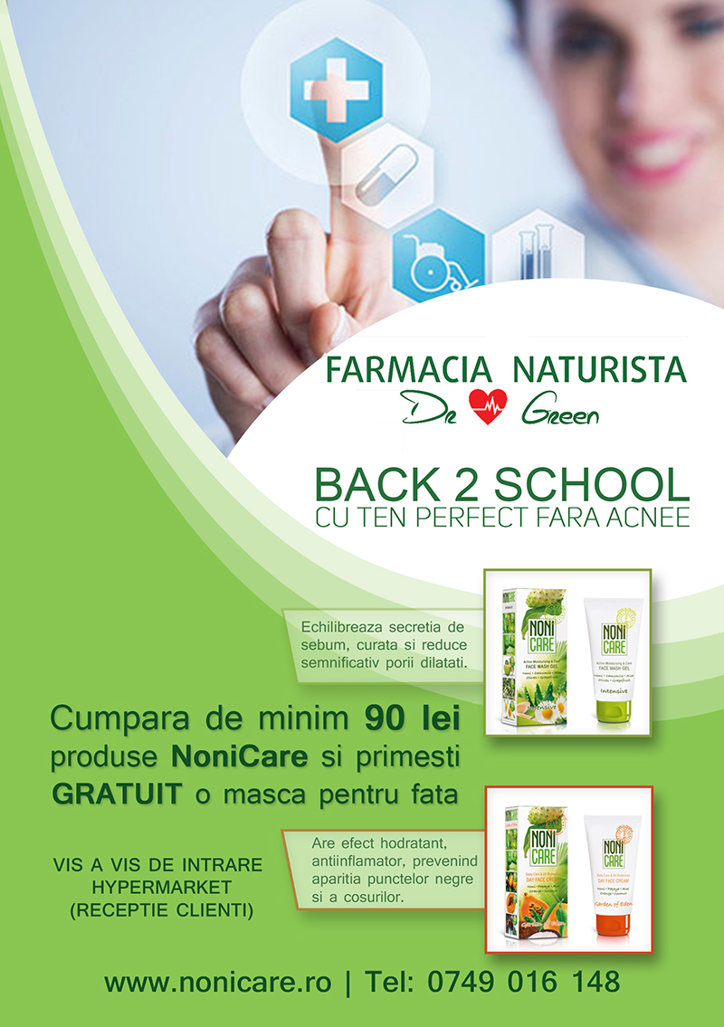 Dr.Green – BACK 2 SCHOOL cu ten perfect, fără acnee!