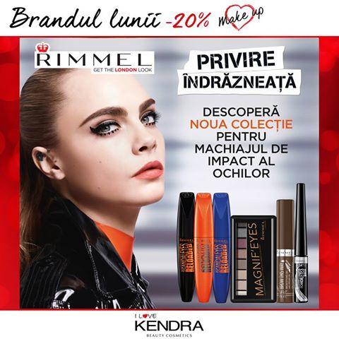 Kendra – 20% reducere la brandul Rimmel