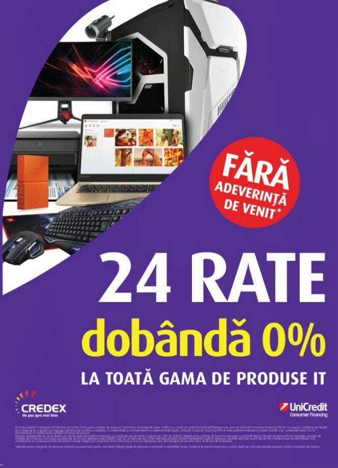 Media Galaxy – 24 de rate cu dobândă 0 la produse IT.