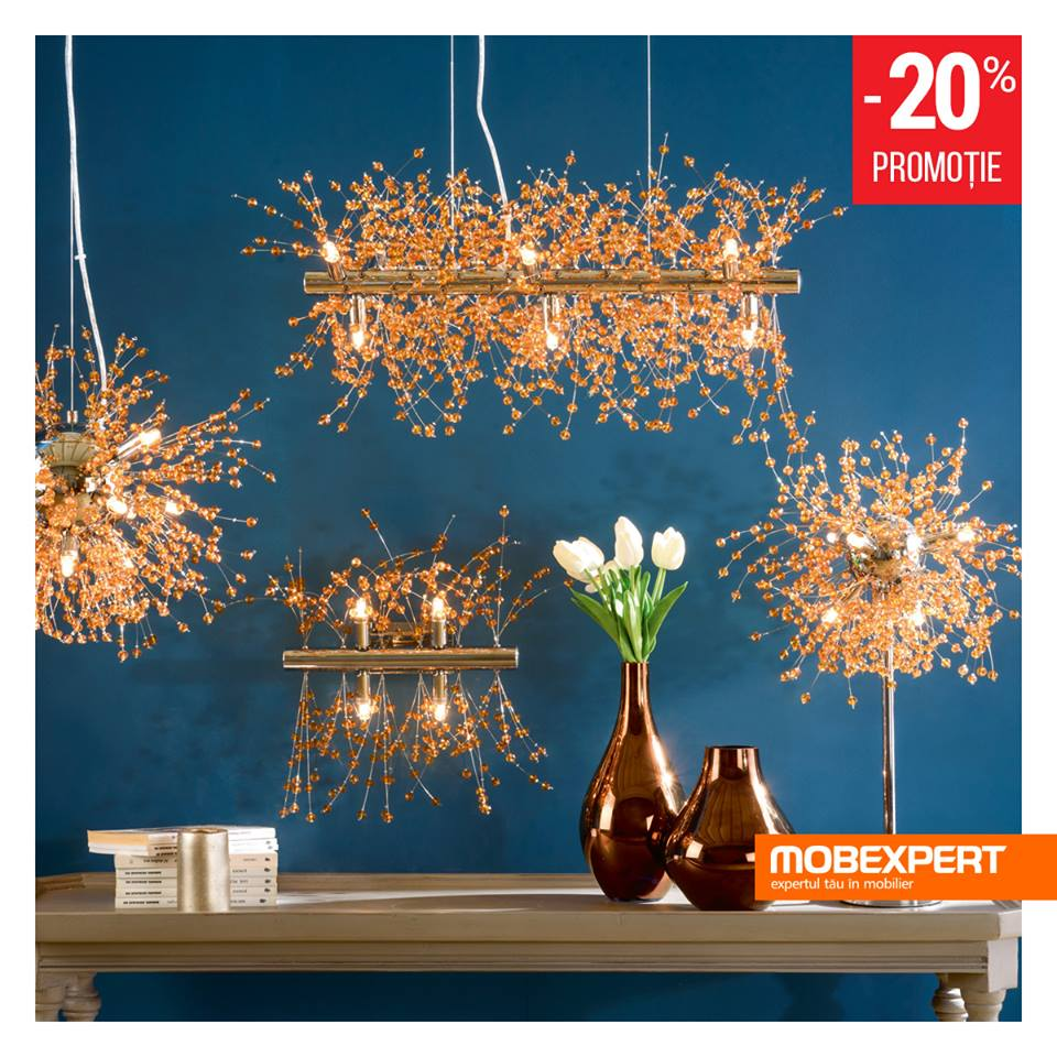 Mobexpert – 20% reducere la corpuri de iluminat.