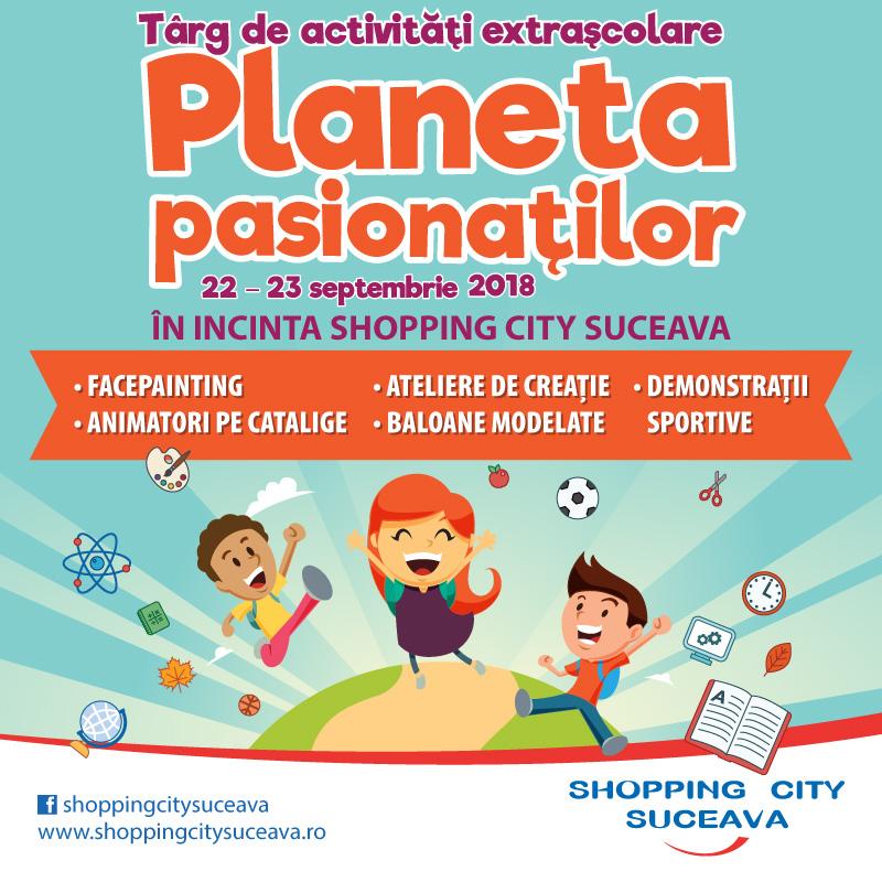 Târg de activități extrașcolare, la Shopping City Suceava