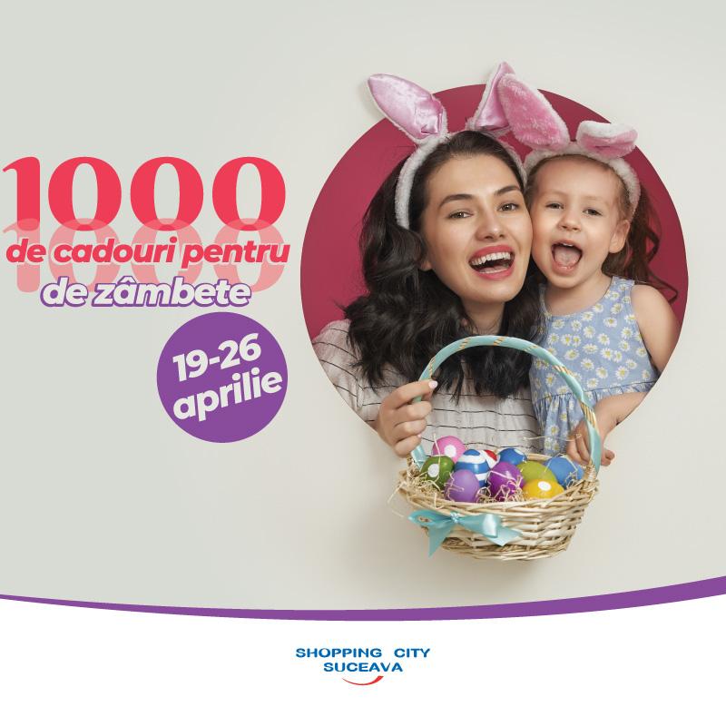 De Paște, Shopping City Suceava a pregătit 1000 de cadouri pentru 1000 de zâmbete!
