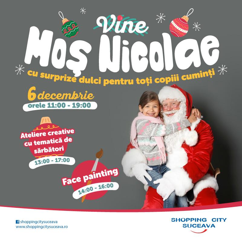 Mos Nicolae vine la Shopping City Suceava!