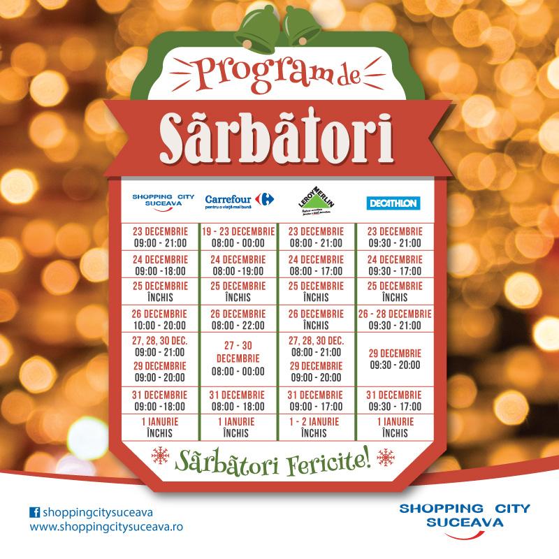 Program special pentru sărbătorile de iarnă!