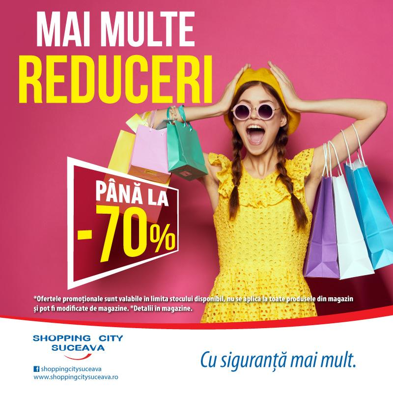 Reduceri de bun venit, la Shopping City Suceava